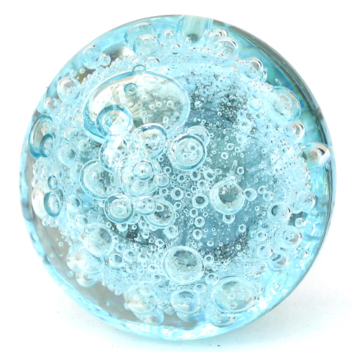 Aqua Bubble Glass Knob