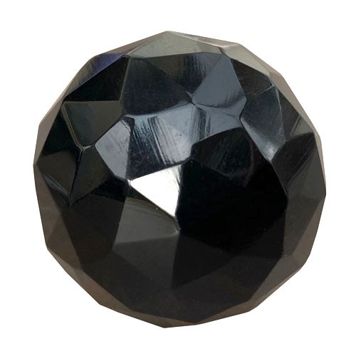 30mm black cut glass knob