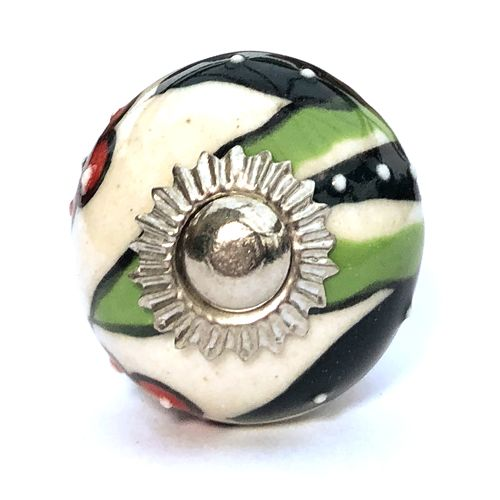 30mm Citadel Green with Red Flower