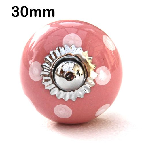 30mm pink/white spots