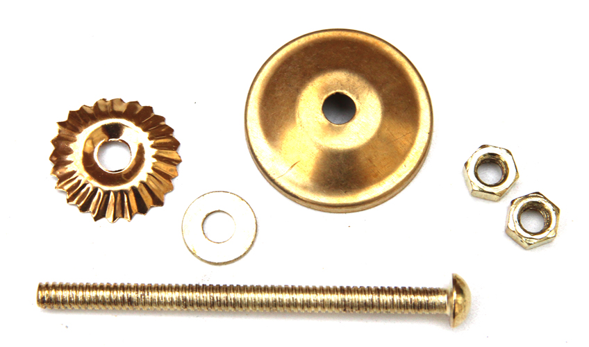Gold coloured fittings