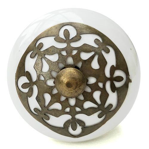 Antique Grid Fitting Knob