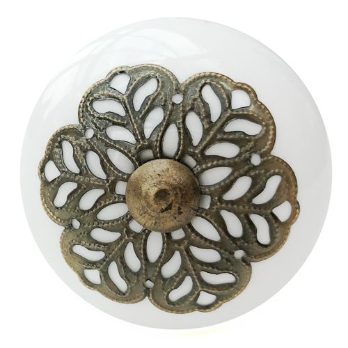 Antique Snowflake Fitting Knob