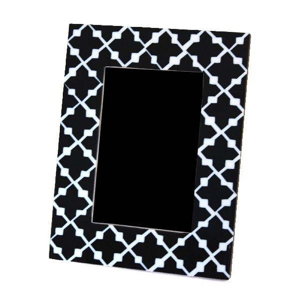 Black Patterned Photo Frame
