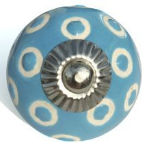 blue etched dots knob