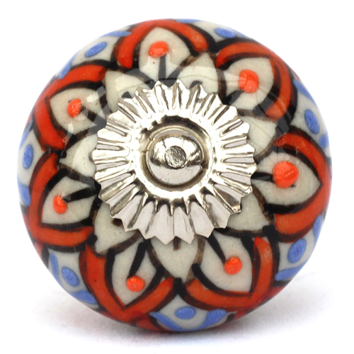 blue/orange embossed knob
