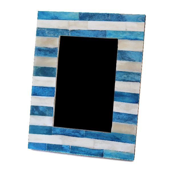 Blue Striped Photo Frame