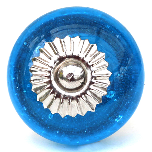 Bright Blue Glass Knob