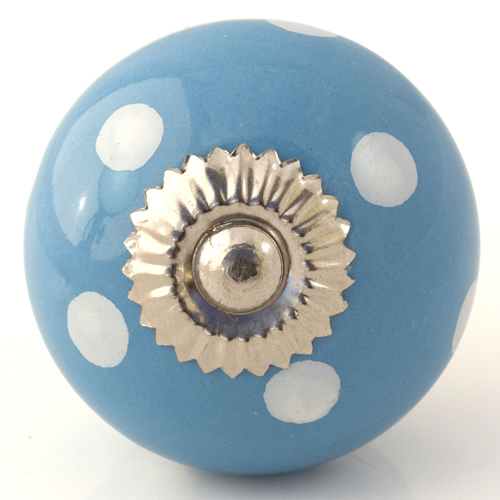 bright blue/white dots knob