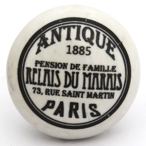 Flat antique Paris knob