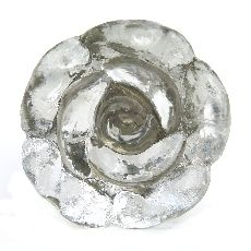 Glass Flower shaped knob