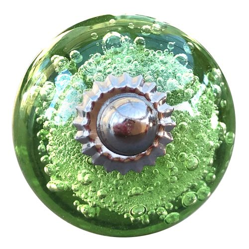 Green Bubble Glass with bolt