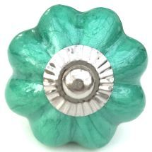 Green pearlescent melon knob
