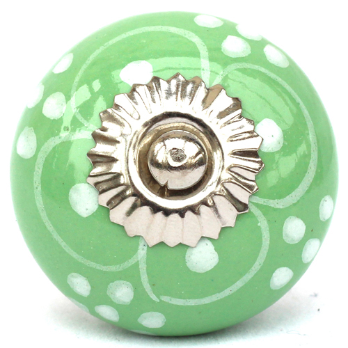 green/white pattern knob