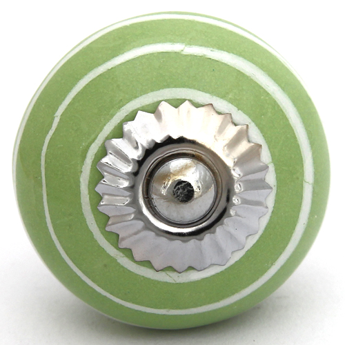 Green with white stripes knob