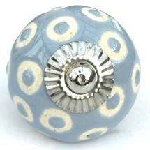 grey/blue etched dots knob