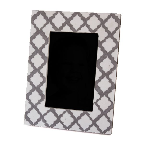 Grey Patterned Photo Frame