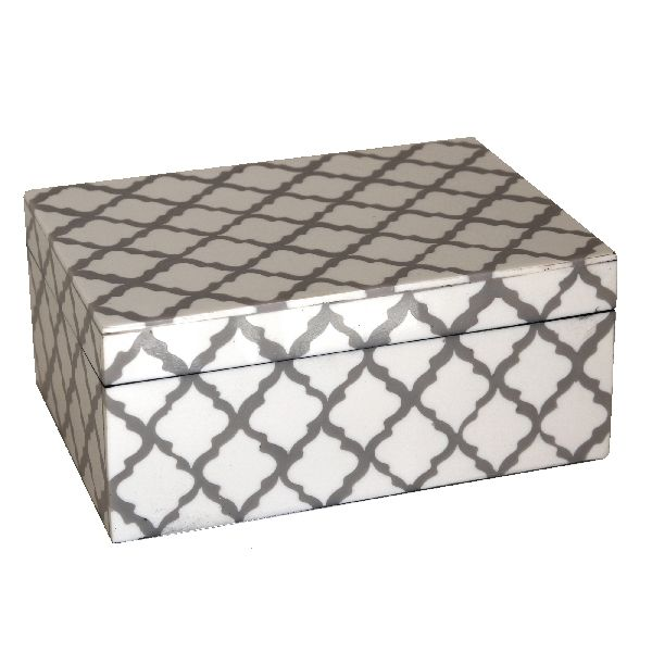 Grey Patterned Trinket Box