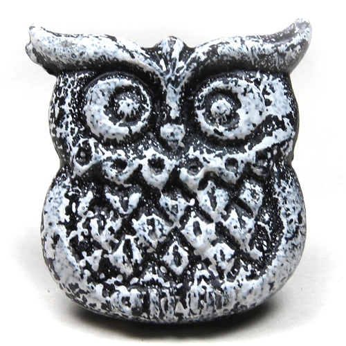 Iron Owl - distressed white