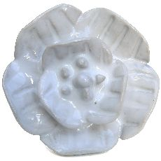 Large White Flower shaped knob