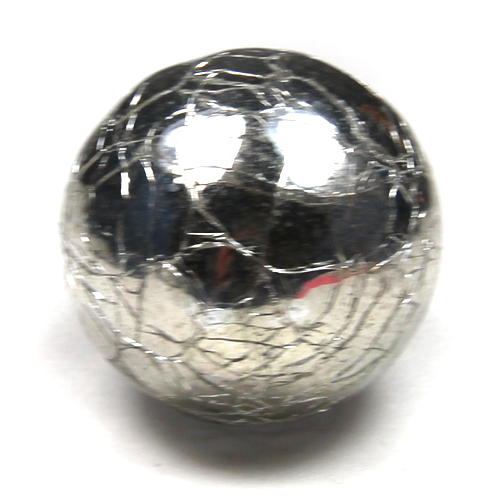 Mercury crackle round knob