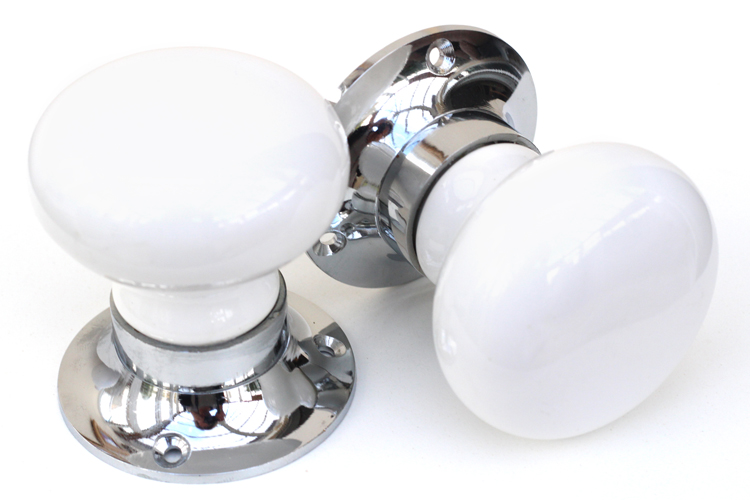 Mortice Knobs - Pure White