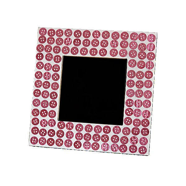Pink Buttons Photo Frame