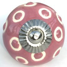 pink etched dots knob