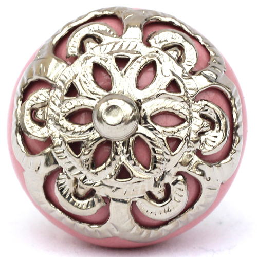 pink/ornate fitting knob