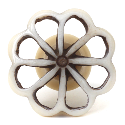 Resin Large Simple Flower Knob