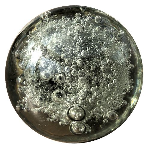 Smoky Bubble Glass Knob