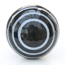 Smooth black/white stripes knob