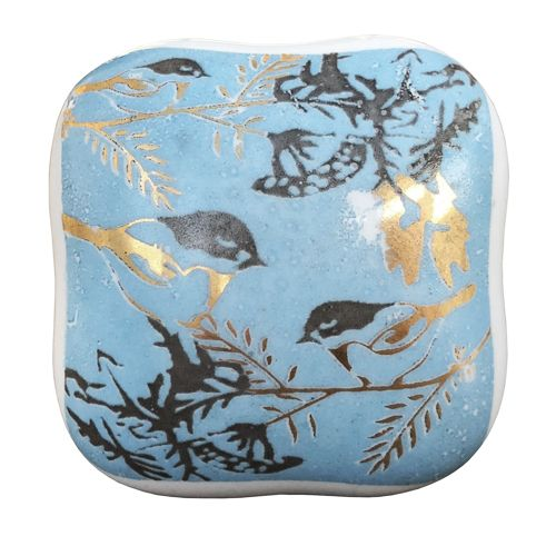 Square bird knob (Blue)