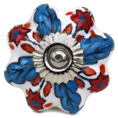 white/blue/red jolly melon knob