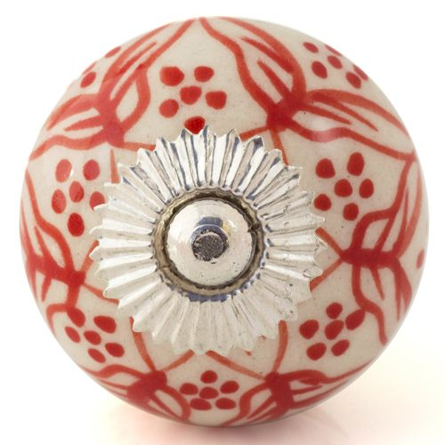 white/red pretty knob